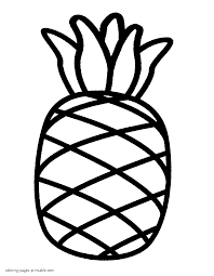 pineapple coloring pages for kids with page throughout itgod me