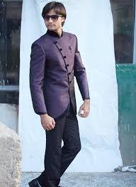 buy purple art silk nehru jacket and trousers code srt0110032