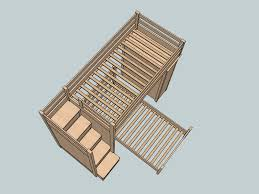 Building Plans For Bunk Beds With Stairs Free Bunk Bed Plans by Twin Over Twin Bunk Beds 1 Background Sketchup Model By