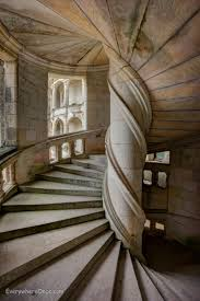 chambord spiral staircases everywhere once