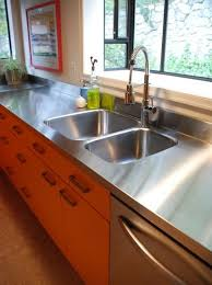 stainless steel countertop with built in sink stainless steel countertops houston countertop with integrated sink