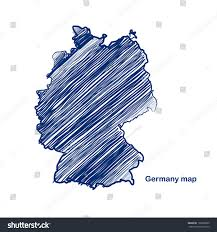 Germany Map by Germany Map Hand Drawn Background Vectorillustration Stock Vector