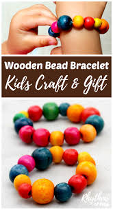 wooden bead bracelet kids craft gift idea rhythms of play