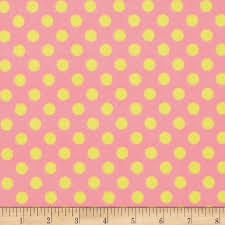 yellow with pink polka dots kimberbell little one flannel too dots pink yellow discount