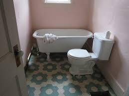 Bathroom Vinyl Flooring by Water Lillies Vinyl Floor Cloth As Permanent Bathroom Flooring
