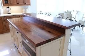 raised kitchen island kitchen island with bar top kitchen island wood walnut kitchen