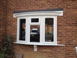 bay window pics with modern white wooden window frames and expose