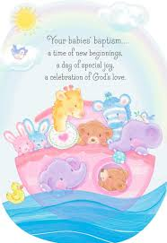 noah u0027s ark baptism card for multiples greeting cards hallmark
