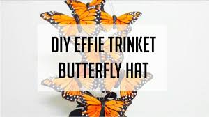 the hunger games halloween costume the hunger games diy effie trinket butterfly hat for my halloween