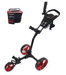 amazon com paragon 3 wheelie folding 3 wheel golf push pull