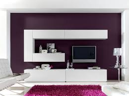 living room contemporary modern wall units in white tone with
