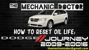 how to reset oil light dodge journey 2009 2010 2011 2012 2013
