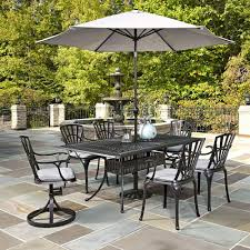 Patio Furniture Dining Sets With Umbrella - home styles largo 7 piece outdoor patio dining set with umbrella