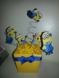 minions centerpieces minion baby shower decor home party theme ideas