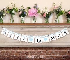 Bunting Flags Wedding Printable Blue Bridal Shower Banner Bridal Shower Banner