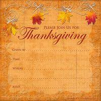 thanksgiving invitations holidays