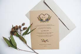 native flower wedding invitations by deerdaisy on etsy daisy