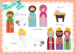 free paper doll nativity printables print on magnetic paper and