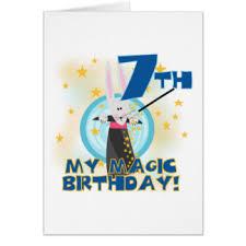 7th magic birthday cards greeting u0026 photo cards zazzle