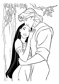 free printable pocahontas coloring pages kids