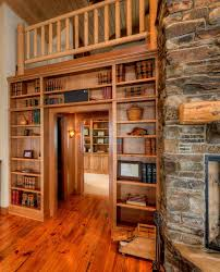 seattle stacked stone fireplace bookcase living room farmhouse