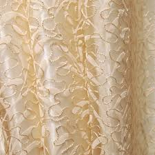 Faux Silk Embroidered Curtains Faux Silk Embroidery Leaf Designer Country Curtains