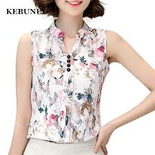 print blouses blusas femininas 2017 fashion summer chiffon blouse