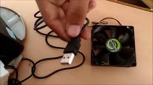 fan with usb connection diy turn cpu fan into desk fan or usb fan youtube