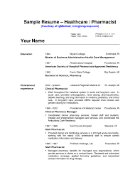 Sample Resume Objectives For Healthcare Administration by Pharmacist Resume Objective Sample Free Resume Example And
