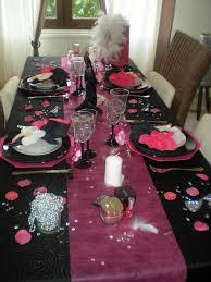 deco table rose et gris déco de table
