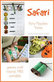 safari themed playdate and printable