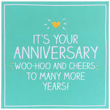 happy jackson it s your anniversary woo hoo and cheers card