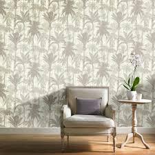 grandeco botanical trees pattern wallpaper forest leaf modern