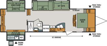 new 2018 k z inc sportsmen 323bhk travel trailer 537485 view this floorplan