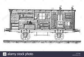 train floor plan franco prussian war 1870 1871 the kitchen car of a medical