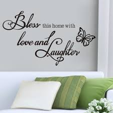 aliexpress com buy bless love laughter vinyl quotes butterfly getsubject aeproduct