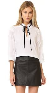 white tie neck blouse see by tie neck blouse shopbop