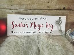 santas magic key wood christmas sign santa key sign wooden