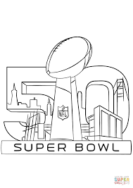 super bowl 2016 coloring page free printable coloring pages