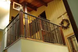 Interior Wood Railing Stone Wood U0026 Steel Interior Railing Traditional Staircase