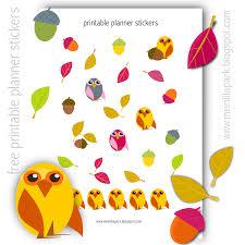 free printable owl planner stickers agendasticker freebie