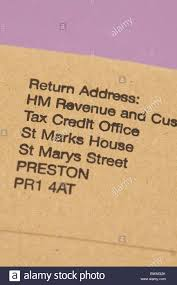 tax credit office tco hmrc return address on plain brown envelope