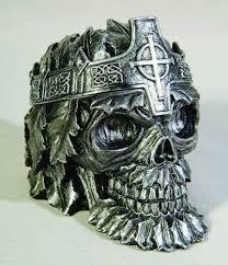 art glass skeleton ring holder images Skull ashtray ebay JPG