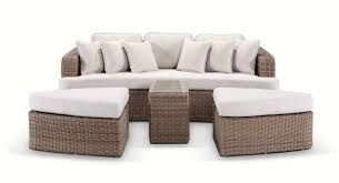 Sofa Bed Au by Noosa Daybed In Brushed Wheat Wicker With Cream Cushions Bay
