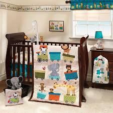 Train Cot Bed Duvet Cover Jungle Circus Zoo Animals With Choo Choo Train Baby Boys 3 Pc Crib