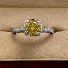 canary engagement ring canary yellow engagement rings