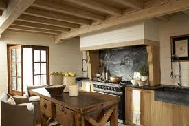 country kitchen with rustic island inspiration u2013 home design and decor
