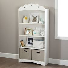 sauder 4 shelf bookcase amazon com south shore tiara 4 shelf bookcase pure white