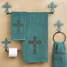 wonderful western bathroom accessories rustic embroidered t and