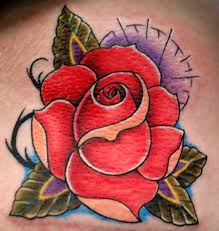 30 best traditional rose tattoo images on pinterest traditional